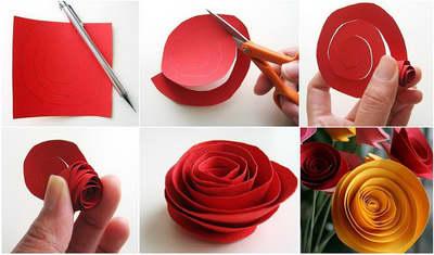 Как сделать букет цветов из бумаги с ребенком