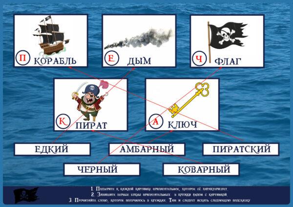 Ответ к заданию пиратского квеста