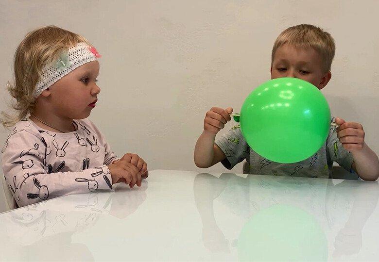 Опыты с шарами в домашних условиях
