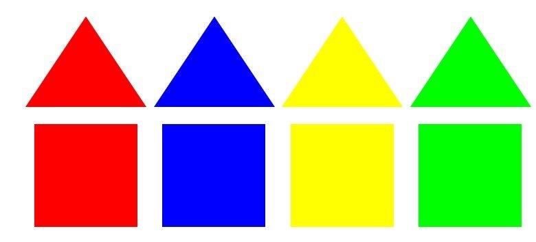 Дострой разноцветные домики