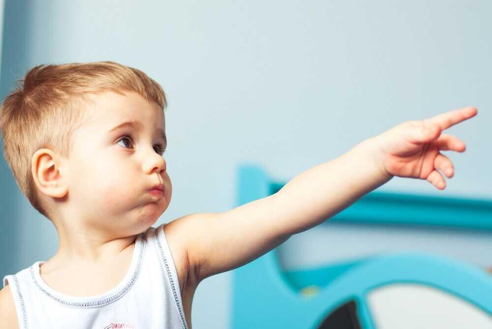 Ребенок показывает, что он хочет