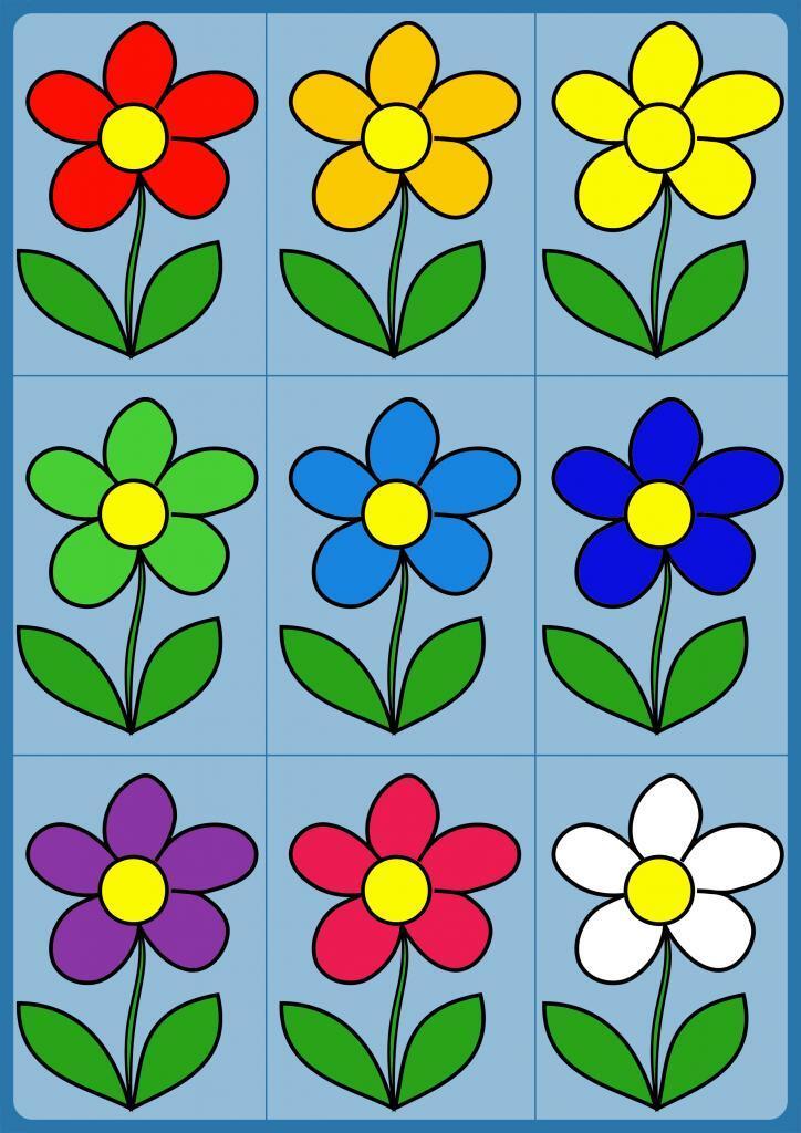 Цветки для игры учимся считать