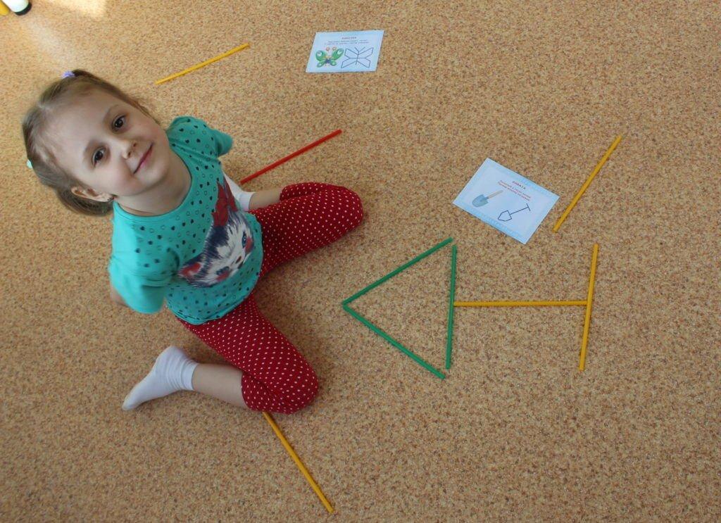 Занятия для детей со счетными палочками