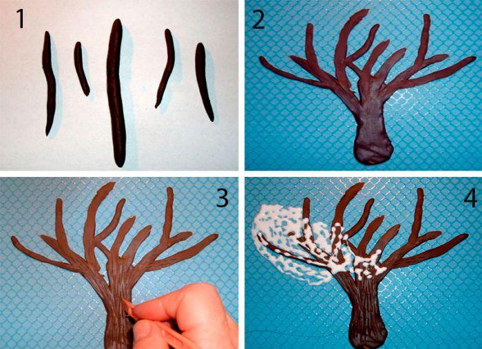 Как сделать дерево из пластилина