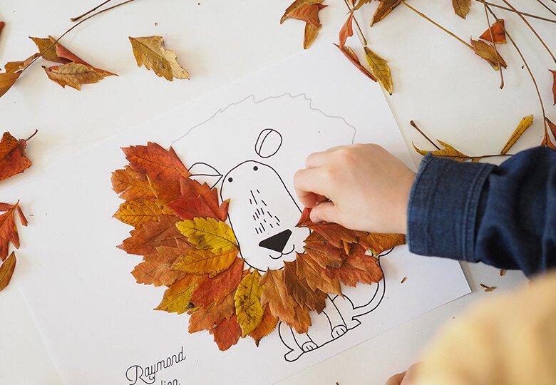 Осенние поделки из листьев для детей своими руками