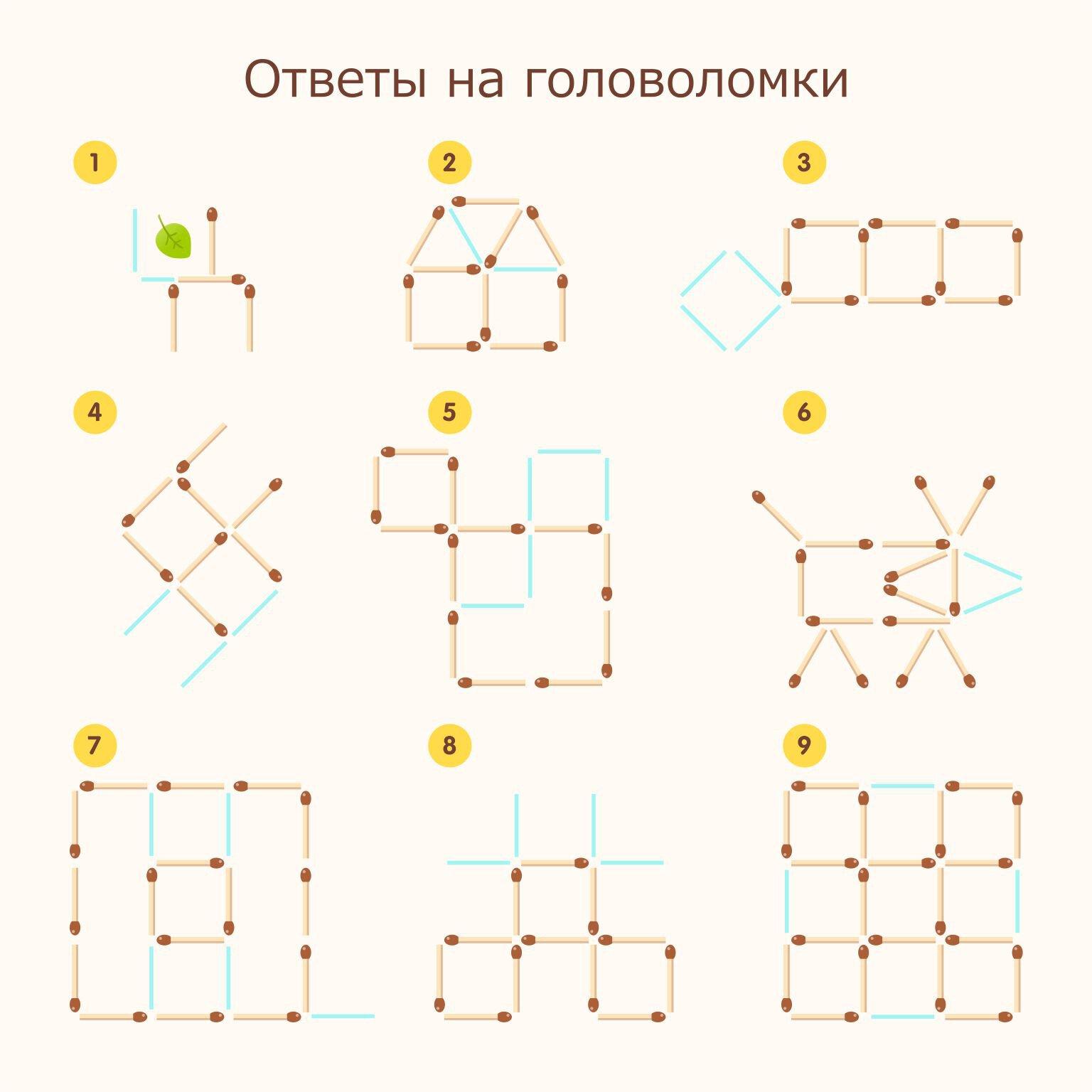 Ответы к головоломкам