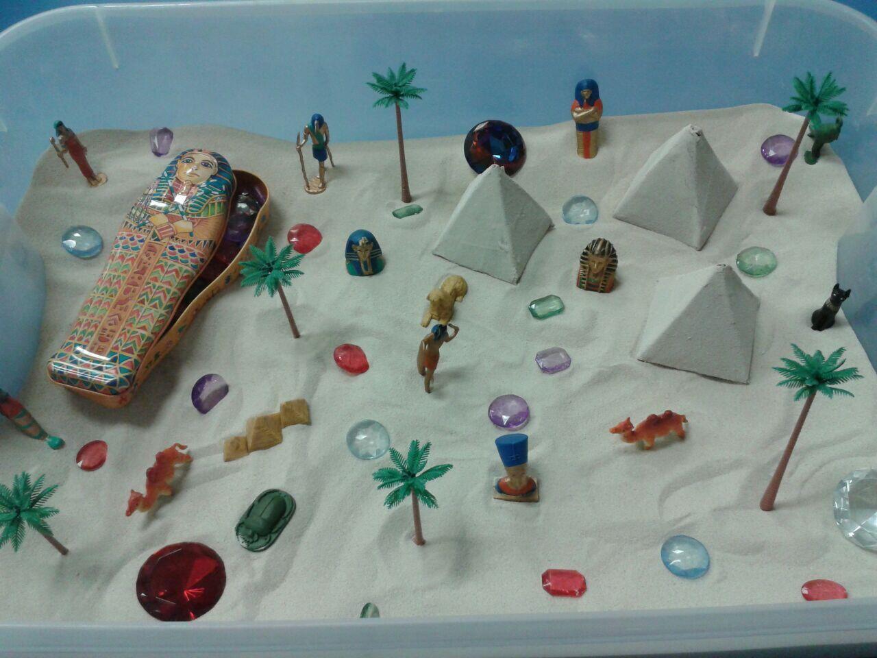 Сенсорная коробка пустыня для детей