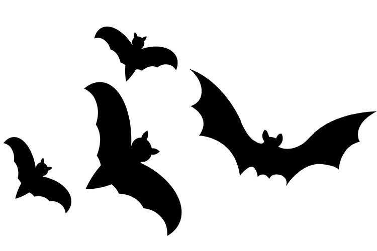 Летучие мыши для вырезания на хэллоуин