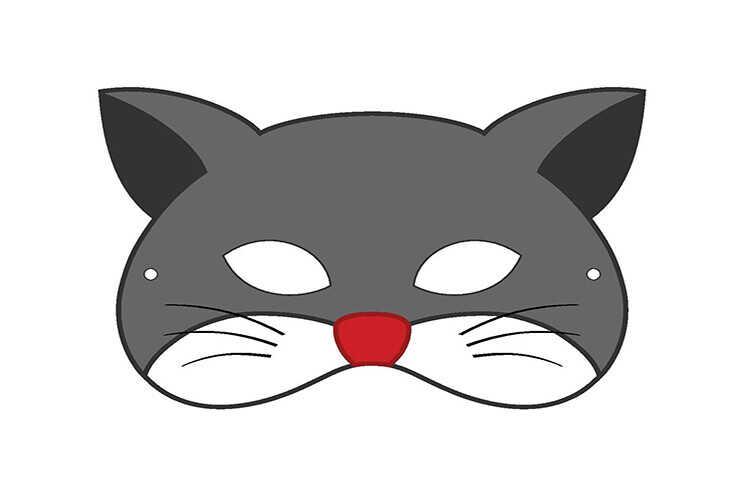 Маска кота на Хэллоуин