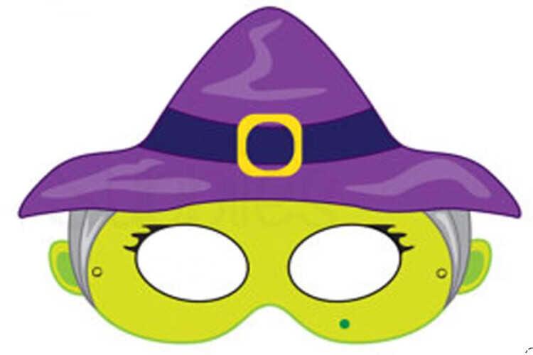 Маска ведьмочки на Хэллоуин