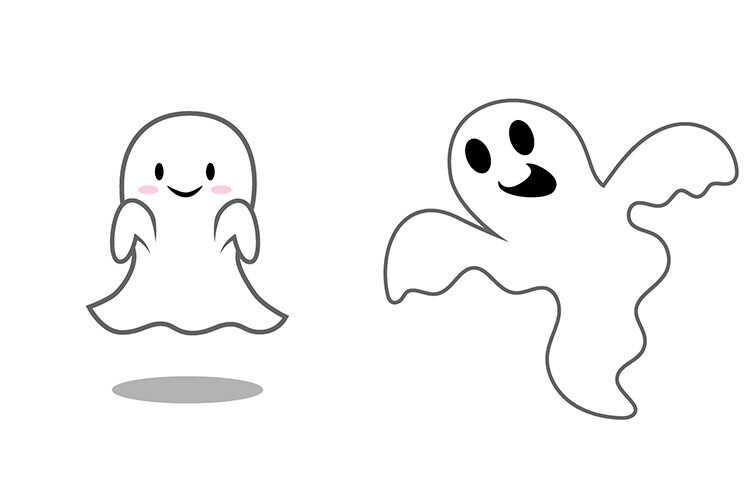 Привидения для вырезания для украшения дома