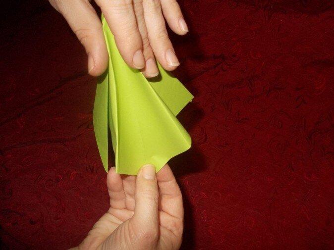 Оригами. Сгибаем грань внутрь