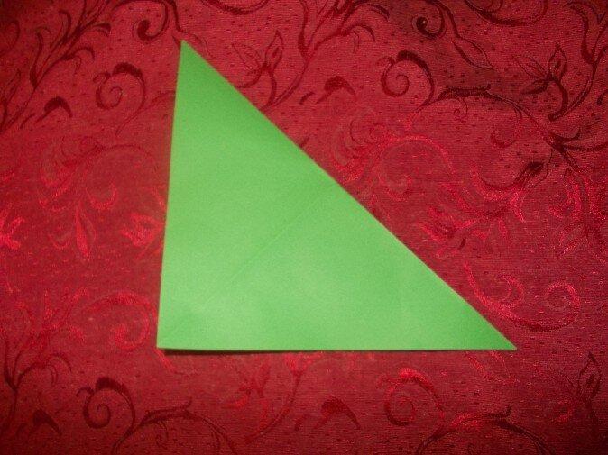 Оригами. Сгибаем квадрат по диагоналям