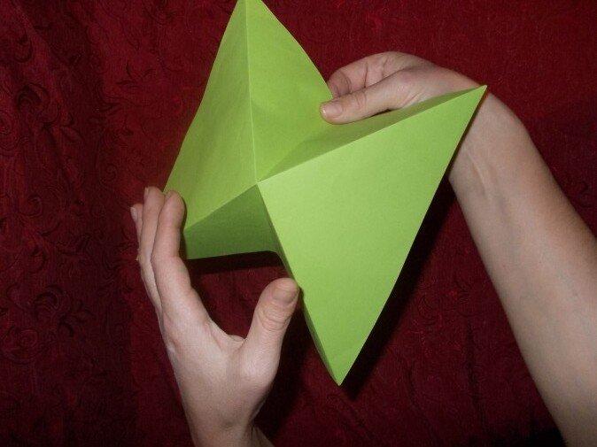 Оригами. Сгибаем квадрат по прямой
