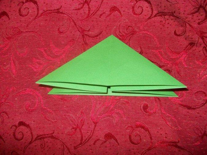 Оригами. Получаем треугольник из квадрата