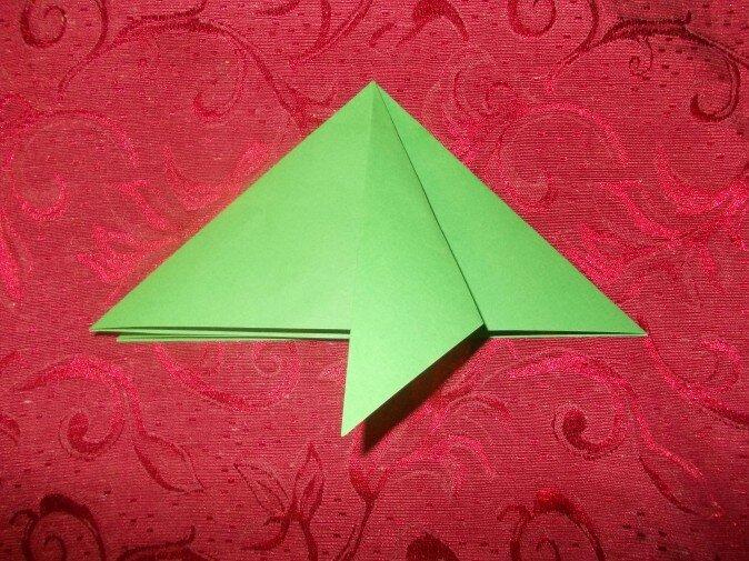 Оригами. Сгибаем первую грань