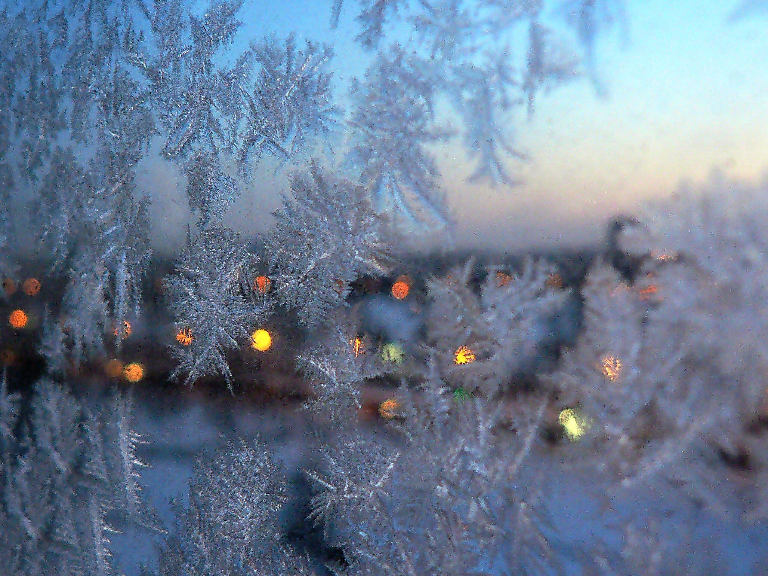 Новогодние стихи. Морозные узоры на окне