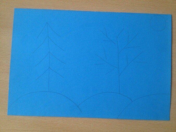 Бумагопластика. Рисуем лес