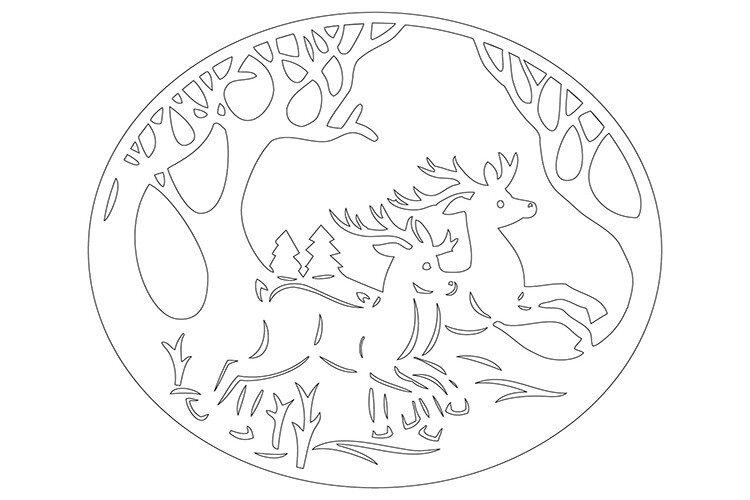Вытынанка своими руками олень