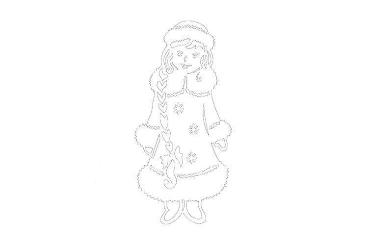 Вытынанка своими руками снегурочка