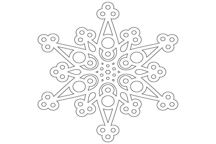 Вытынанка своими руками снежинка