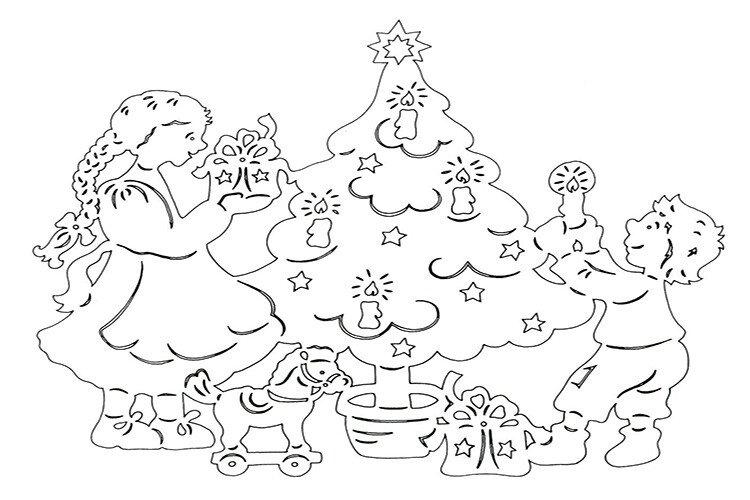 Вытынанки своими руками рождество