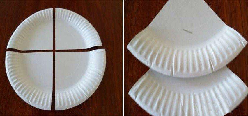 Ёлка из одноразовых тарелок. Поделка в сад