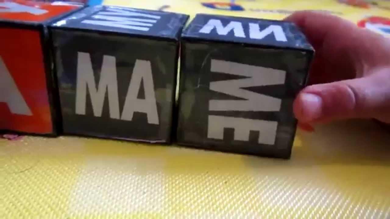 Игра с кубиками Зайцева семья