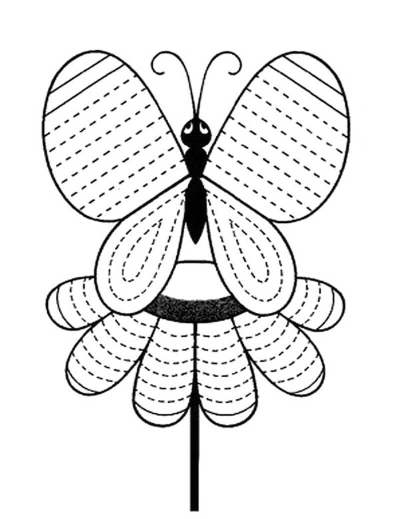 Сделай штриховку бабочки