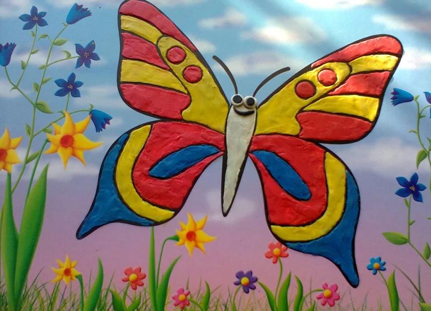 Пластилинография бабочка