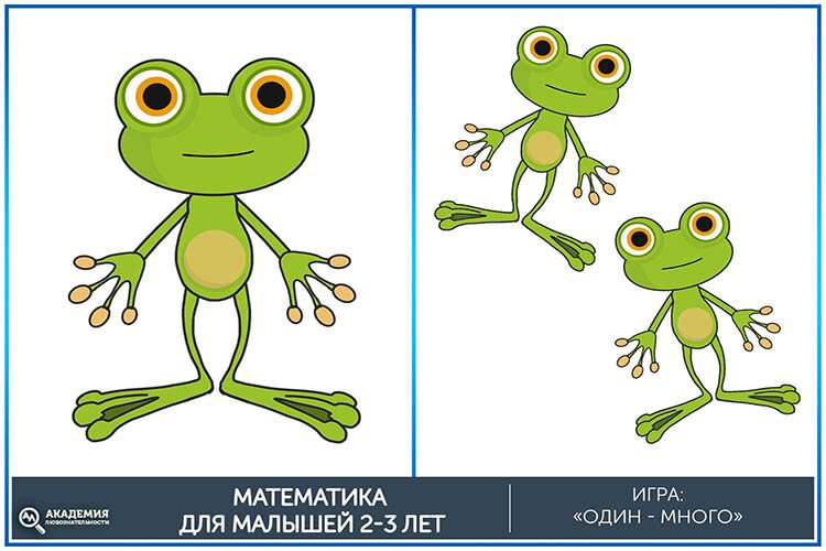 Математическая игра один-много Лягушки