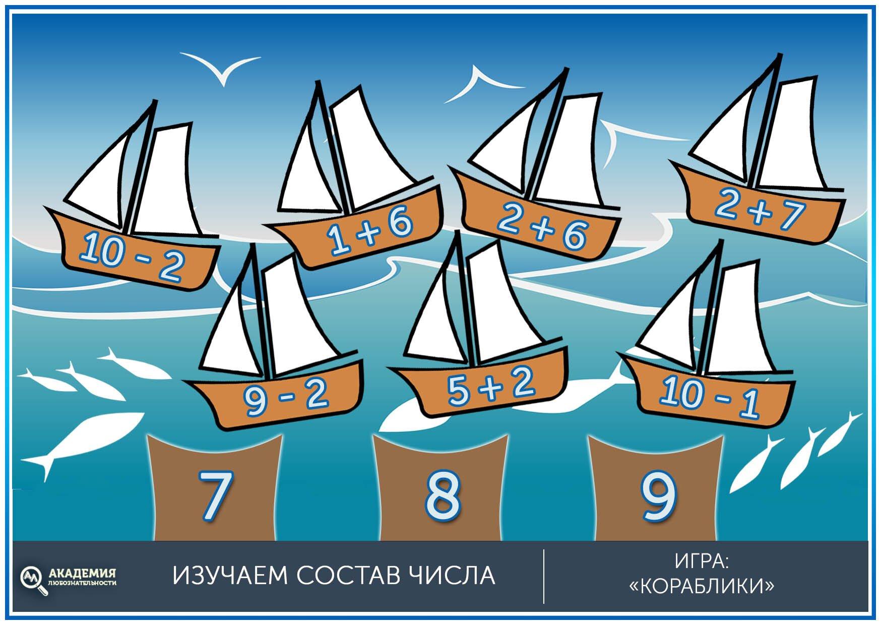 Игра для дошкольников кораблики