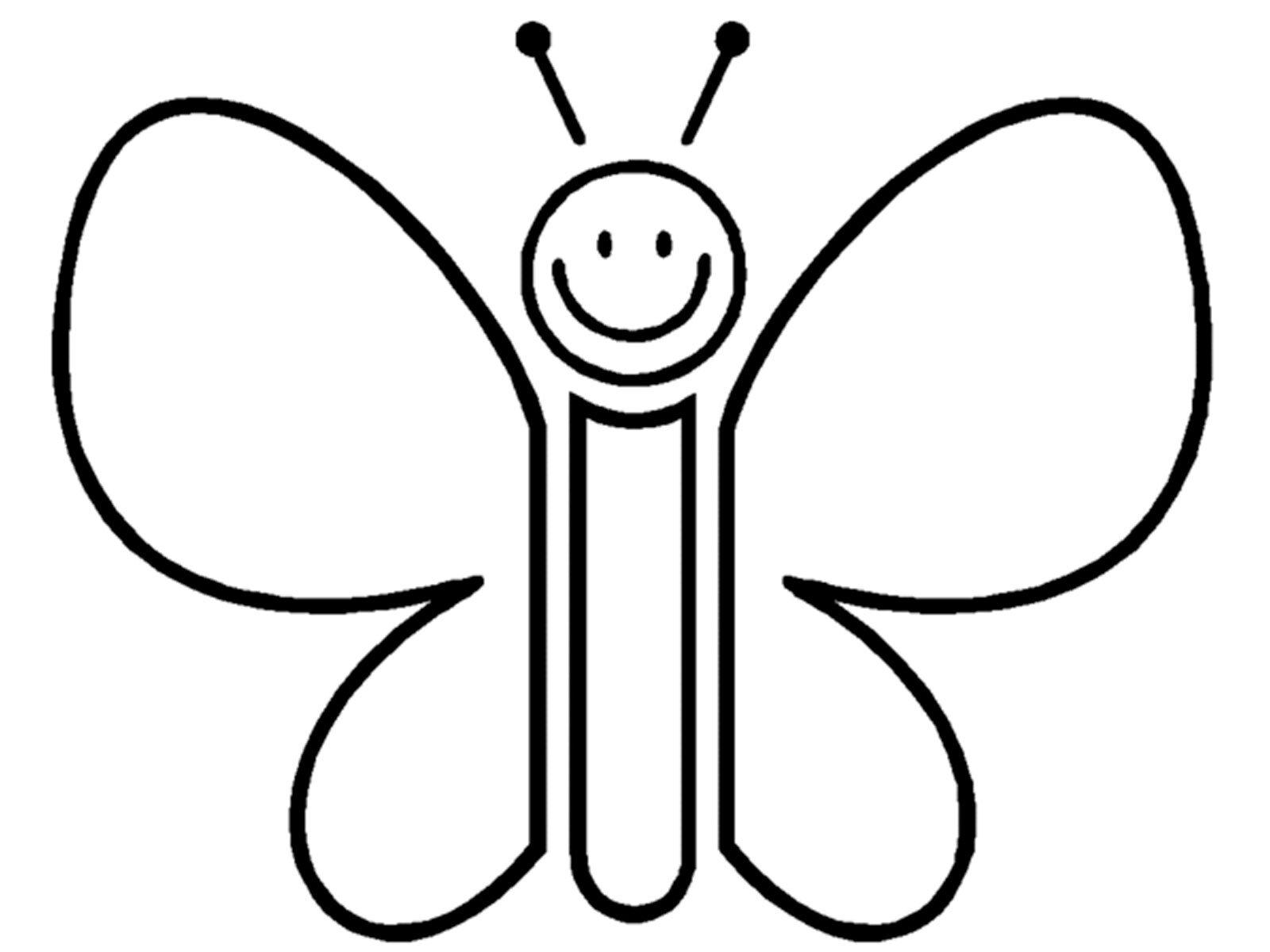 Раскраска для детей 2-3 лет Бабочка
