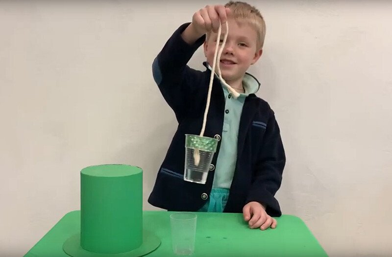 Фокус для детей Джин в стакане