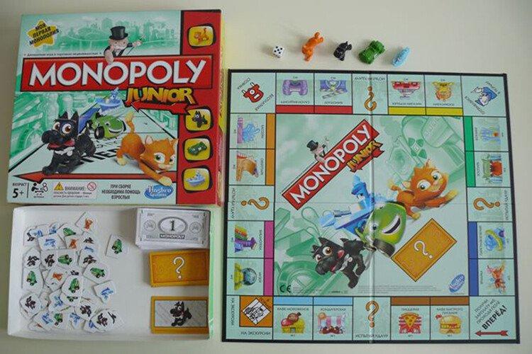 Настольная игра для детей Монополия Джуниор