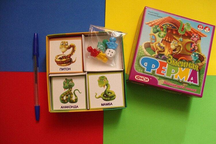 Настольная игра для детей Змеиная ферма