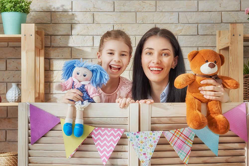 Кукольный театр с детьми 4-7 лет дома