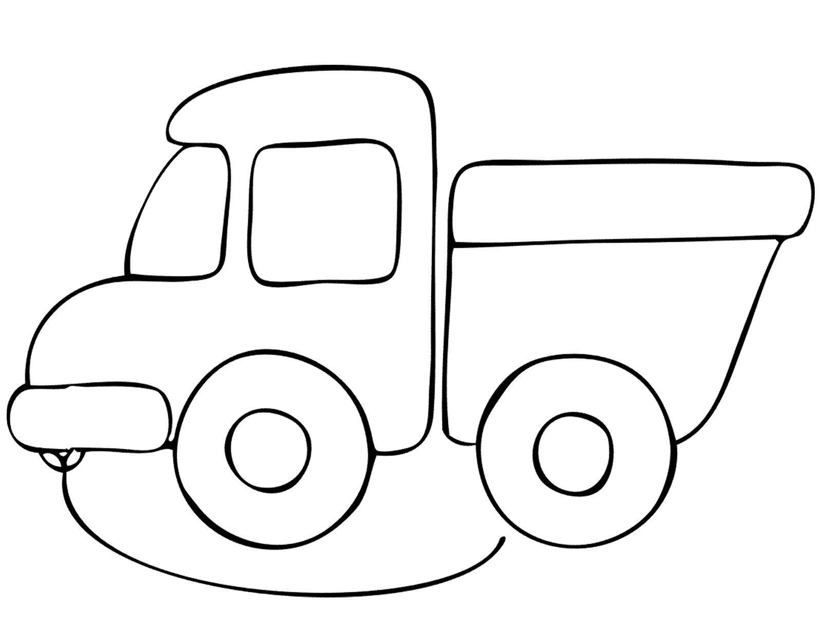 Раскраска для детей 2-3 лет машинка