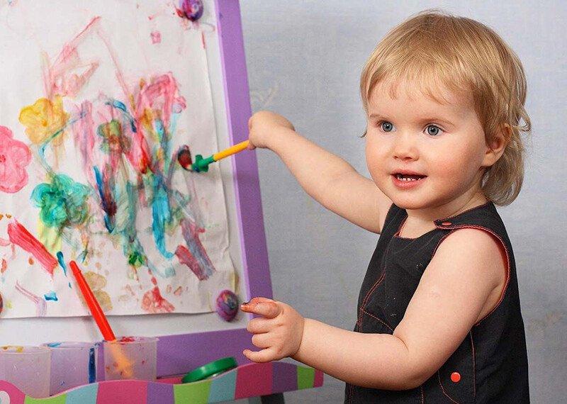 Рисование красками с детьми 2-3 лет