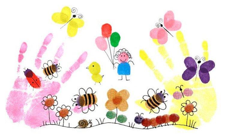 Рисование пальчиками с детьми 2-3 лет