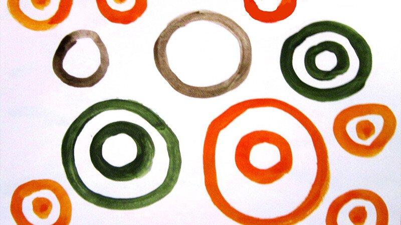 Рисуем круги и овалы с ребёнком 2-3 лет