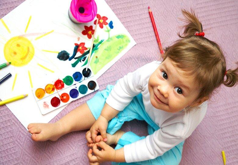 Рисуем с детьми 2-3 лет дома