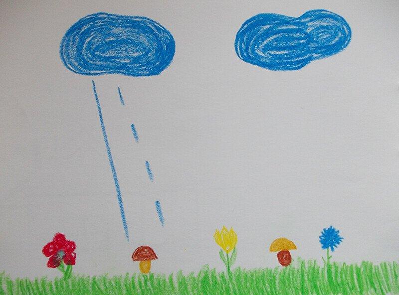 Рисуем вертикальные линии с ребёнком 2-3 лет