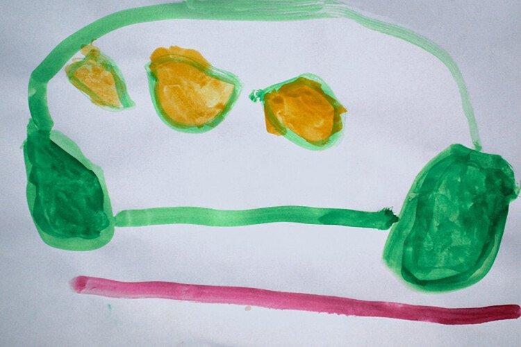 Как рисует ребёнок в 3-4 года. Пример