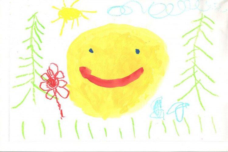 Как рисует ребёнок в 3 года. Пример