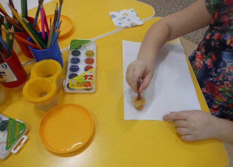 Поролоновые рисунки с ребёнком 3-4 лет