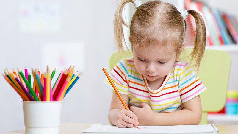Рисование карандашами с ребёнком 3-4 лет