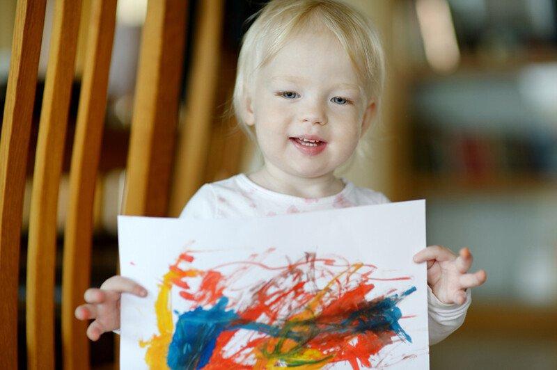 Рисование красками с ребёнком 3-4 лет