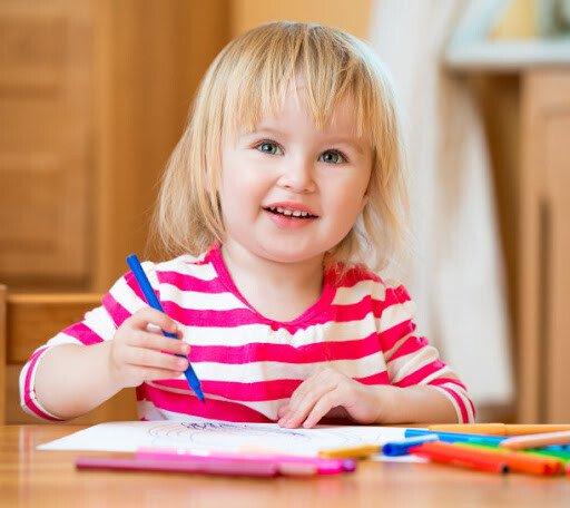 Рисуем фломастерами с ребёнком 3-4 лет