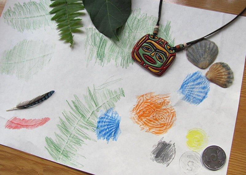 Техника рисования фроттаж для детей 3-4 лет